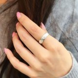 silver hawaiian ring (cut out - 6mm)