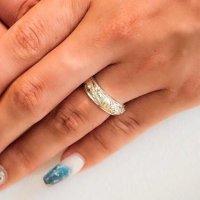 14k gold Barrel 4mm & silver 6mm ring